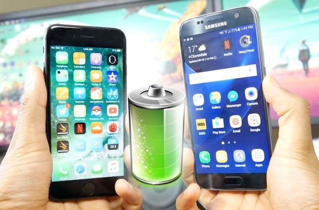 Как держит батарею iPhone 7 и Samsung Galaxy S7: сравнение (видео)