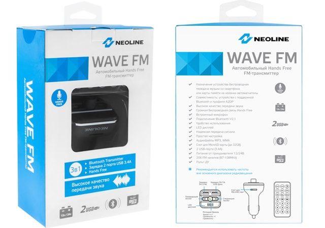 NEOLINE Wave FM - трансмиттер, совместимый с iPhone, Apple Music
