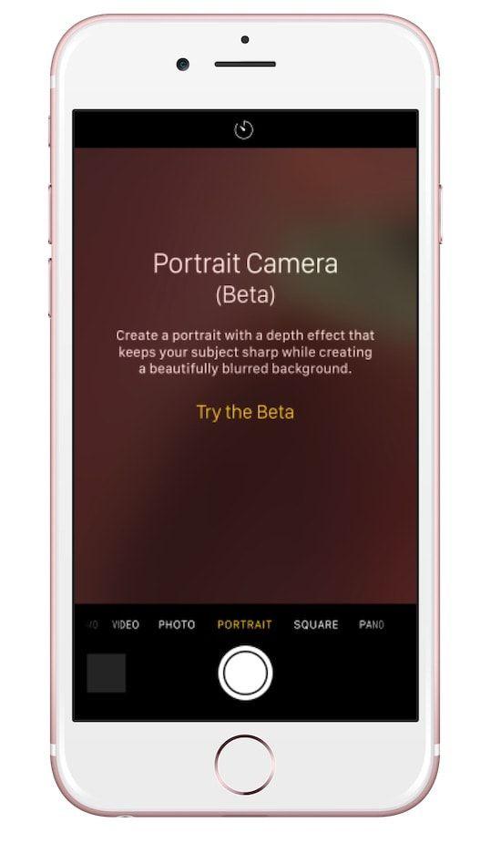 Портретный режим iOS 10 для iPhone 7 Plus