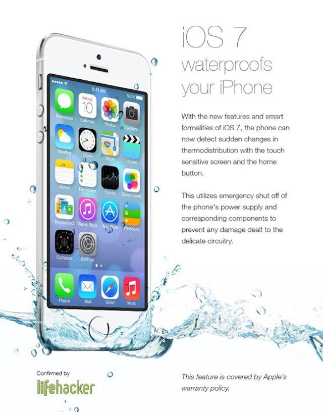 Водонепроницаемость iOS 7