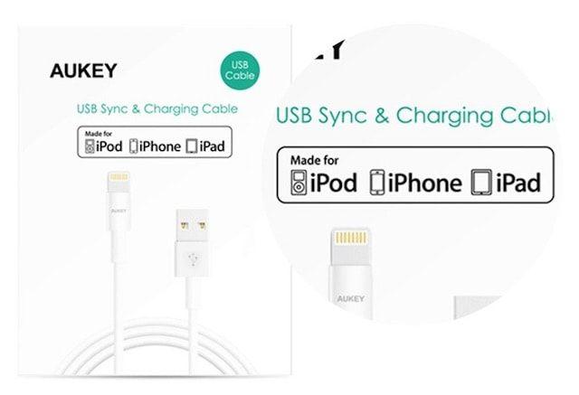 aukey - lightning кабель