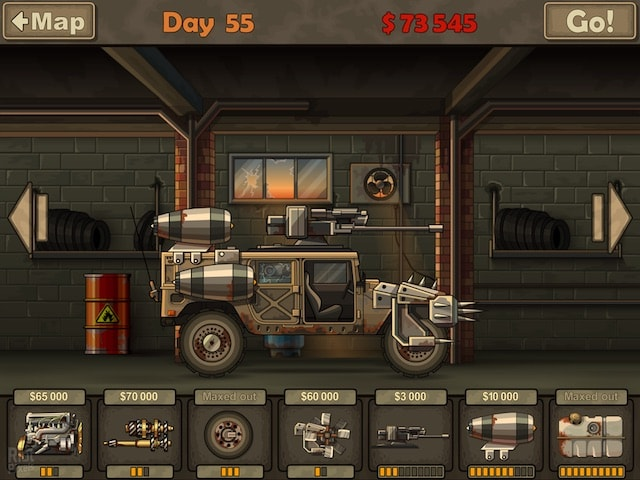 Игра Earn to Die для iPhone и iPad - гонки через зомби-апокалипсис