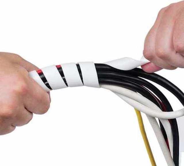 Защита кабеля с помощью спиральной обвязки