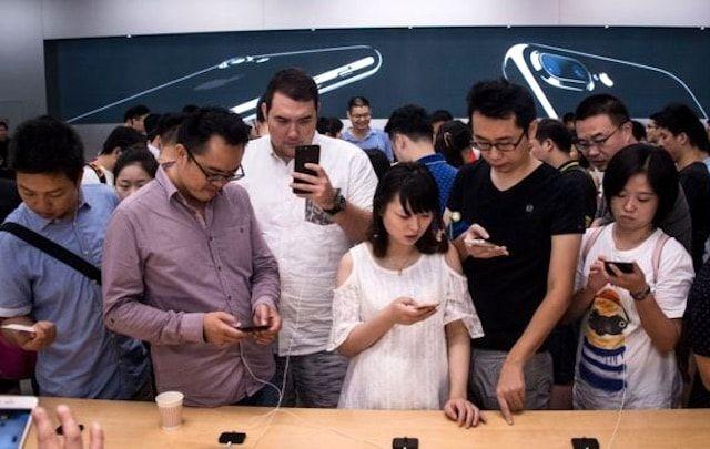Китайский пользователь iPhone