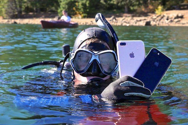 Возможна ли подводная съемка (дайвинг) на iPhone 7 без чехла?