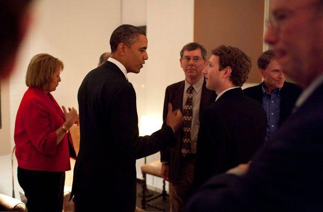 Марк Цукерберг и Барак Обама