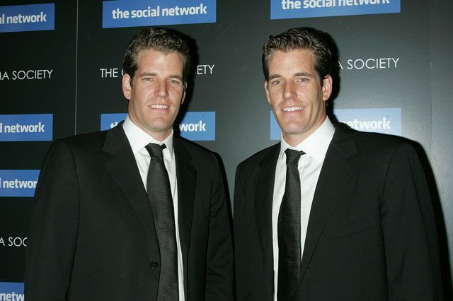 twins Cameron and Tyler Winklevoss