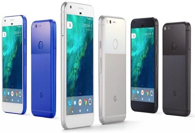 Google Pixel цвета
