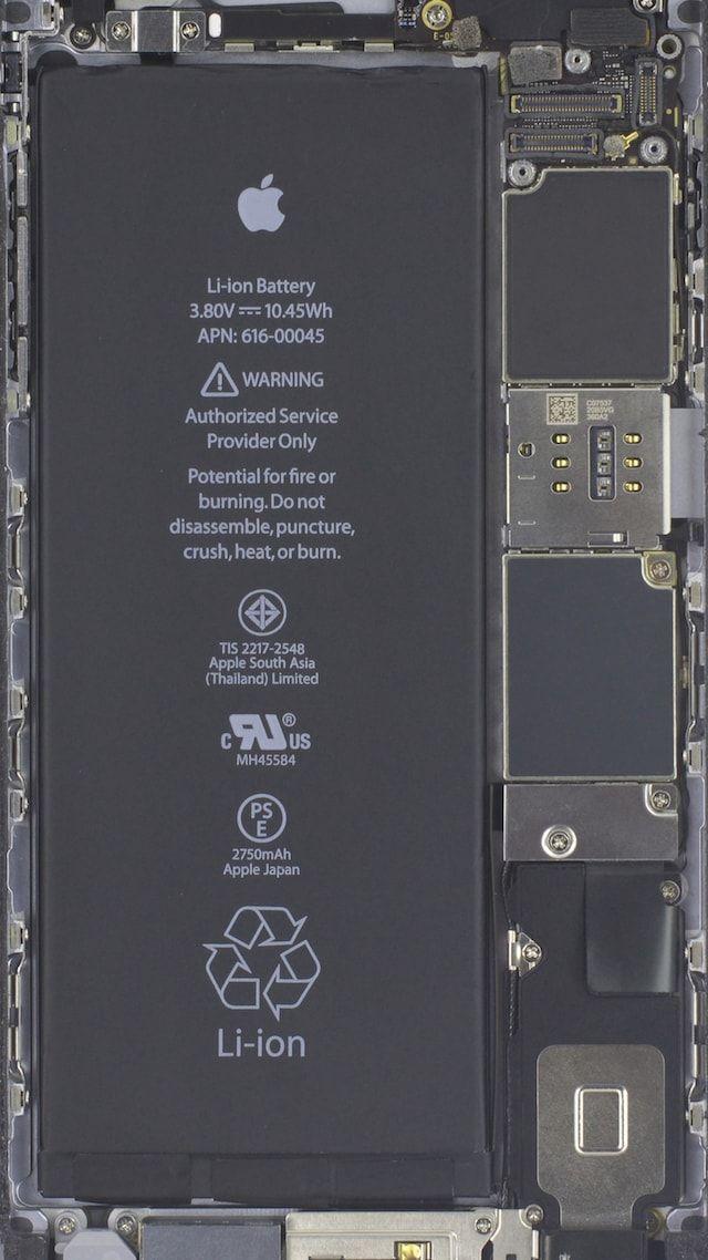 Обои с внутренностями iPhone 6s