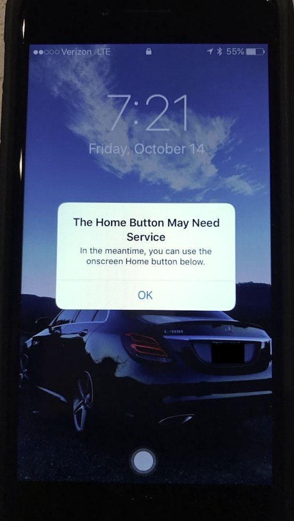Что происходит, когда кнопка Домой в iPhone 7 выходит из строя