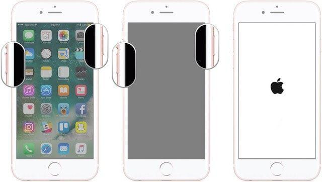 Как перезагрузить iPhone 7