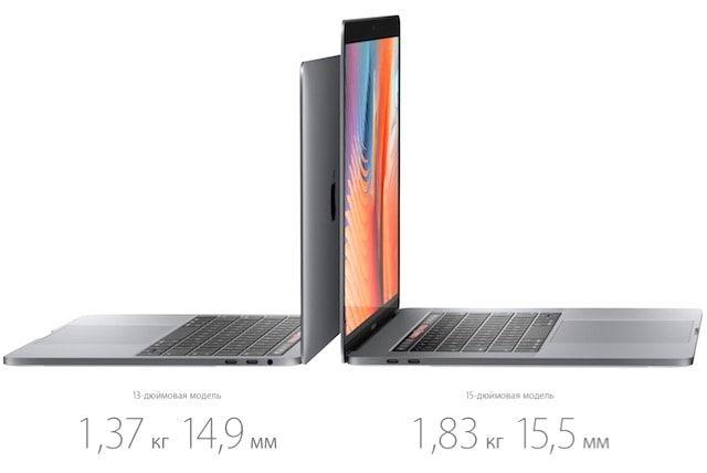 macbook pro 2016 - вес