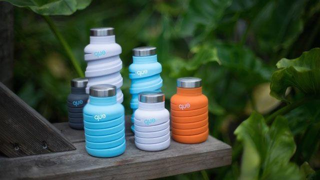 Que Bottle - стильная складная бутылка, собравшая на Kickstarter сумму, в десять раз превышающую заявленную
