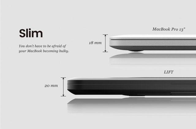 Чехол Lift - невероятный гибрид чемодана и подставки для MacBook