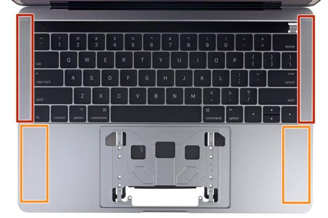 Результаты разбора MacBook Pro 2016: Бутафорские решетки динамиков и практически полная ремонтонепригодность