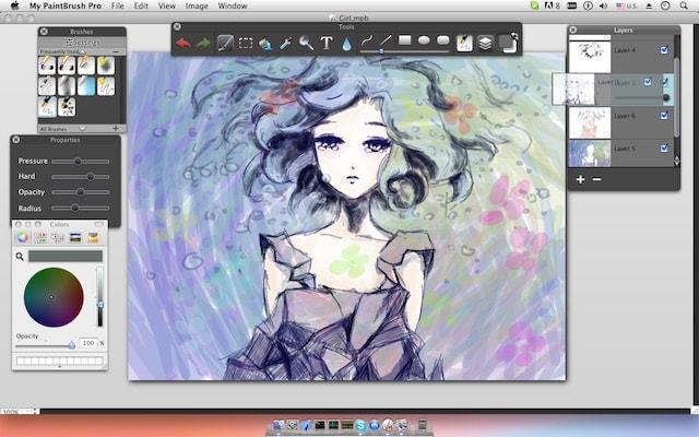 My PaintBrush Pro - мощная программа для рисования на Mac