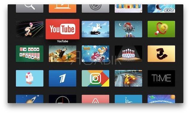 Apple TV 4g домашний экран