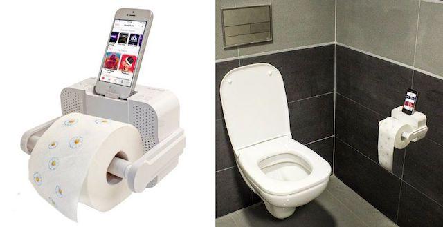 Держатель туалетной бумаги с выемкой для iPhone