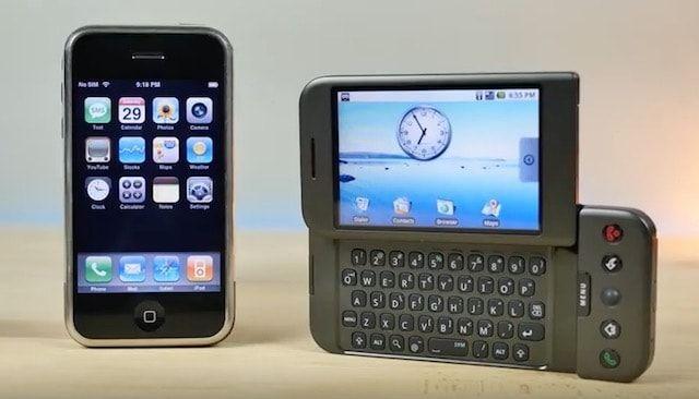 Сравнение первого iPhone и первого смартфона на Android (видео)