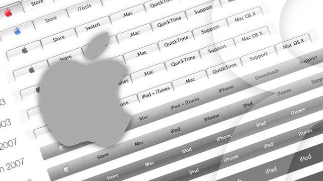 Как изменялась панель меню официального сайта Apple за 17 лет