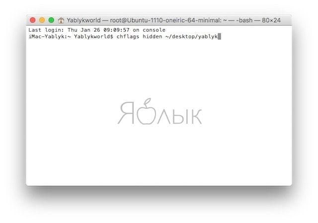 Как скрыть файлы и папки в Mac (macOS)