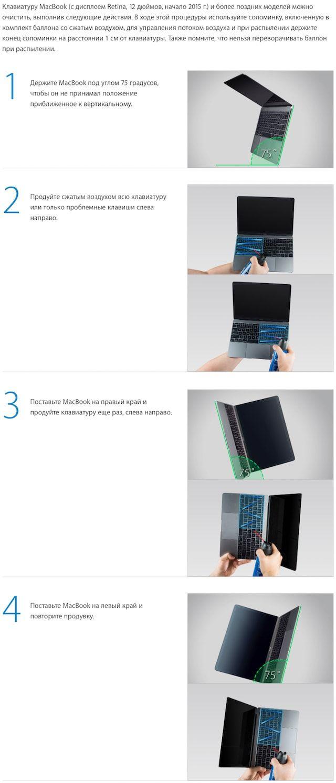 Что делать, если залипла клавиша на клавиатуре MacBooк: советы от Apple
