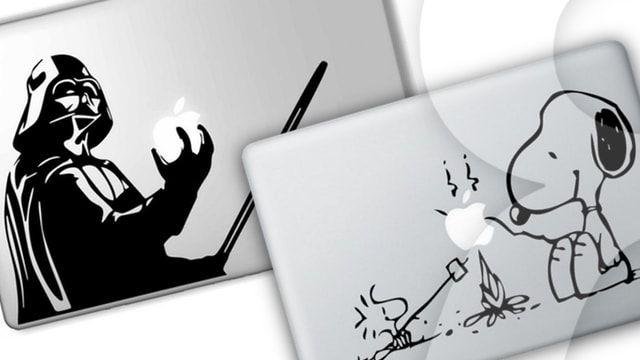 Купить дизайнерские стикеры (наклейки) на заднюю панель MacBook