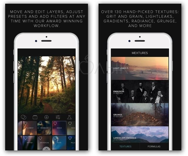 Приложение Mextures для iPhone и iPad