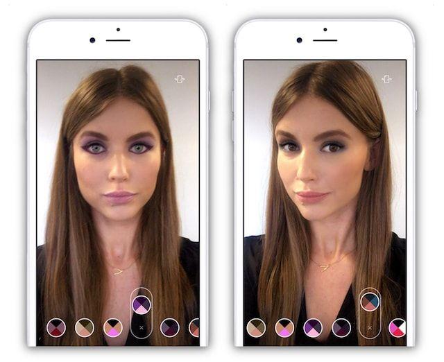 Как подбирать макияж (косметику, прическу, ботокс губ и т.д.) на iPhone или iPad