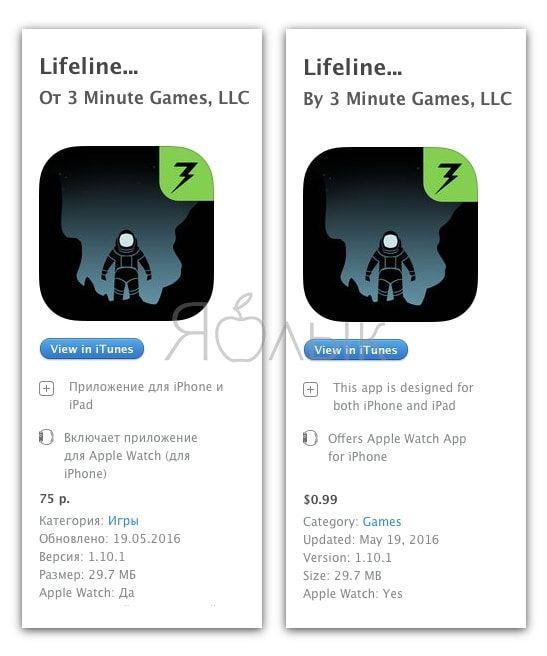 Цены в App Store