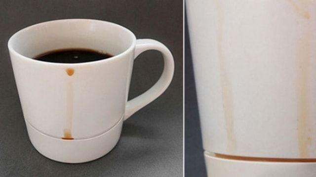 Чашка, вбирающая подтеки