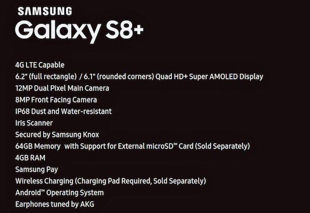 Характеристики samsung galaxy s8