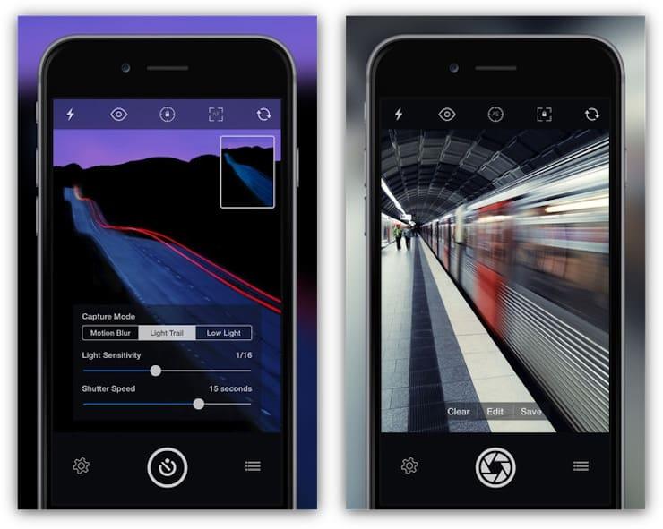 Описание профилей приложенияSlow Shutter Cam