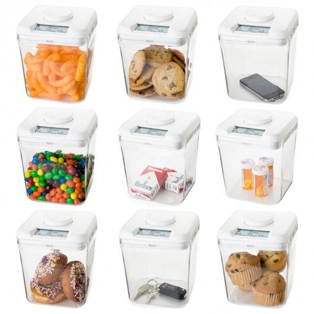 Пищевые контейнеры со встроенными таймерами