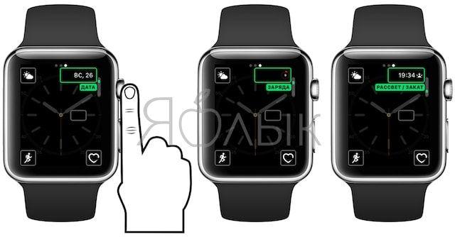 Настройка и выбор расширений для циферблата на Apple Watch