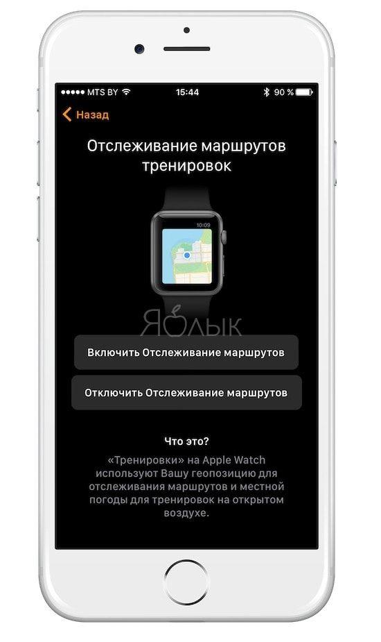 Apple Watch - маршруты тренировок