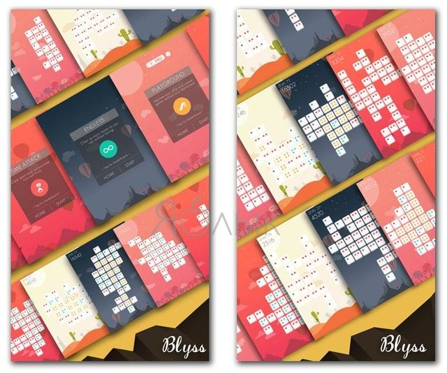 Blyss — саморазвивающая головоломка для iPhone и iPad