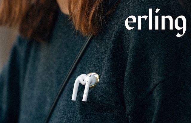Erling Enn - магнитная брошка для крепления Apple AirPods