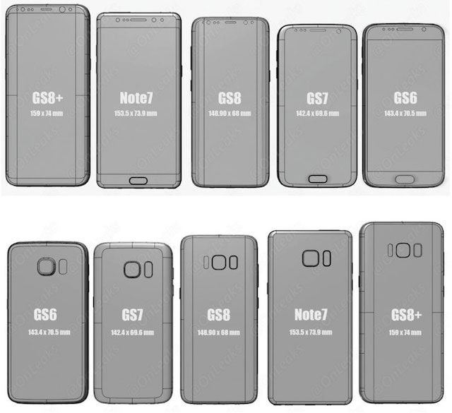 Samsung Galaxy S8 \ S8 Plus и iPhone 7 \ 7 Plus: сравнение размеров
