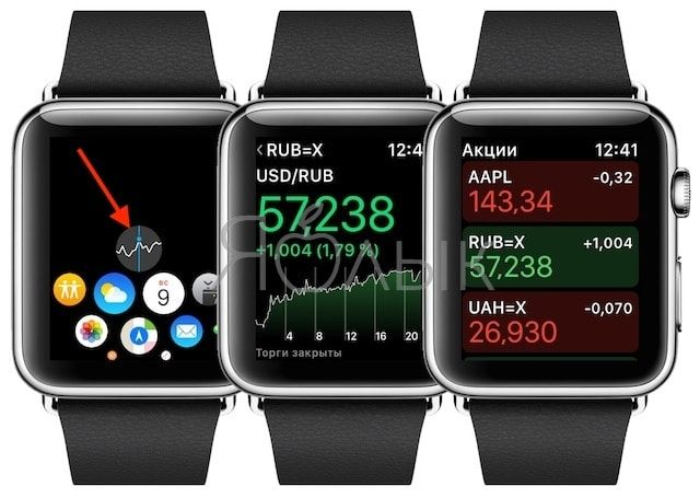 Как смотреть курсы валют на Apple Watch