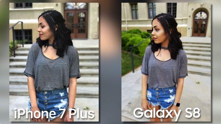 iPhone 7 Plus мы Samsung Galaxy S8