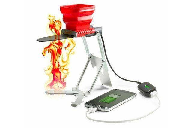 Как заряжать iPhone при помощи огня