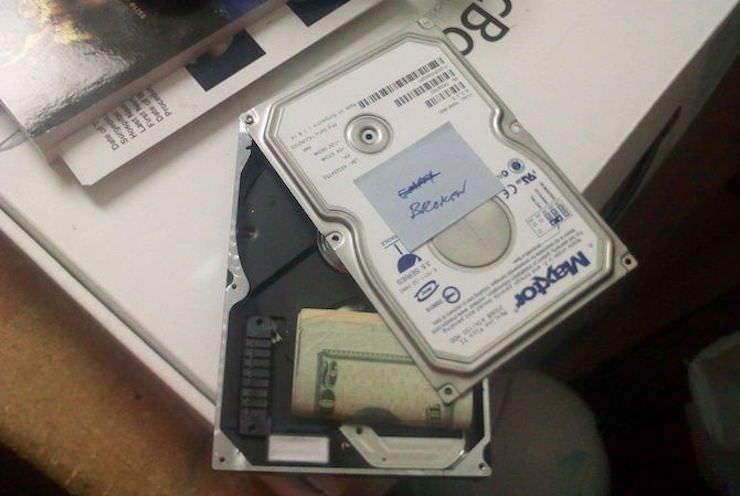 Сейф из старого жесткого диска HDD