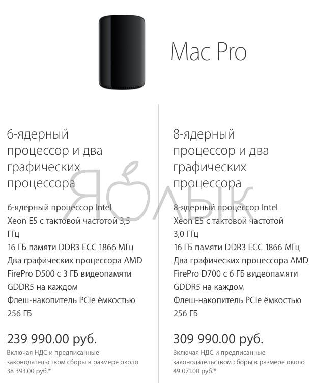 mac pro 2017 цена