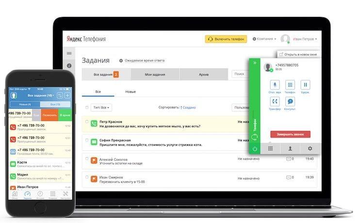 Возможности сервиса «Яндекс.Телефония»