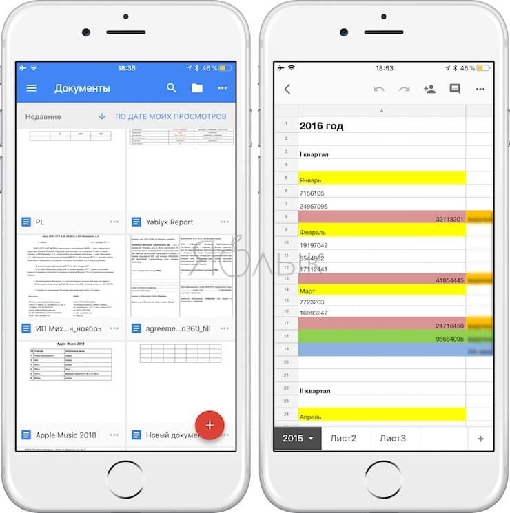 Google Документы для iOS