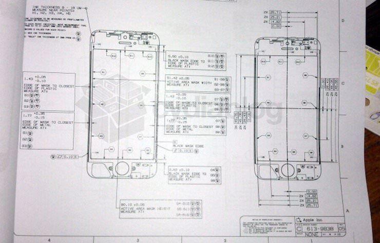 Чертеж iPhone