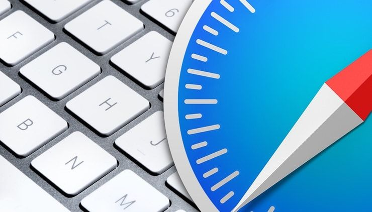 переключение между вкладками Safari на Mac