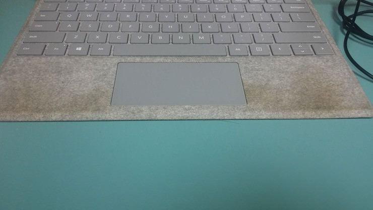 Microsoft Surface Laptop dirty