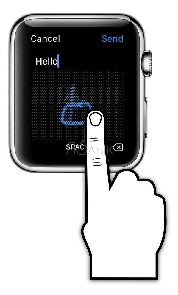 Режим «Scribble» (Зарисовка) на Apple Watch